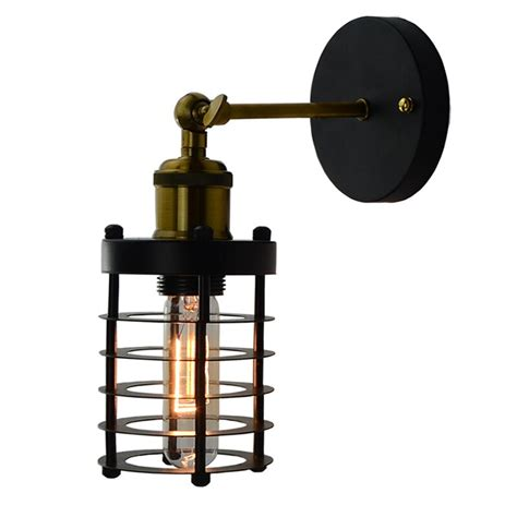 vintage loft adjustable industrial metal wall light retro brass wall l cafe sconce l