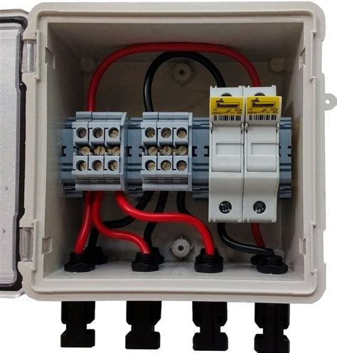 Dc Fuse Box Home by Pv Solar 3 String Dc Combiner Box With 2 Fuses Pre Wired