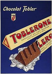 Vintage Toblerone Chocolate Advertisement Poster A3 Print