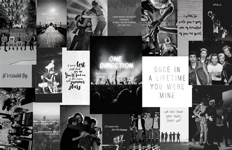 one direction aesthetic computer wallpapers colored and