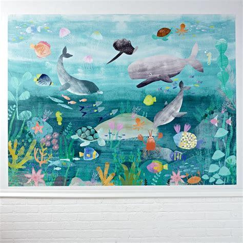 sea mural wall decal  land  nod