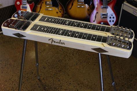 twangcentral guitars  fender dual  professional twin neck steel guitar