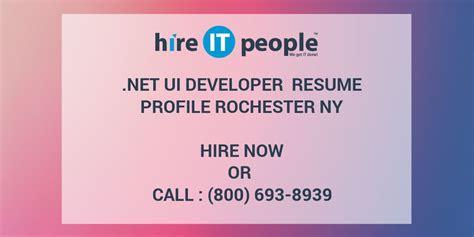 net ui developer resume profile rochester ny hire it
