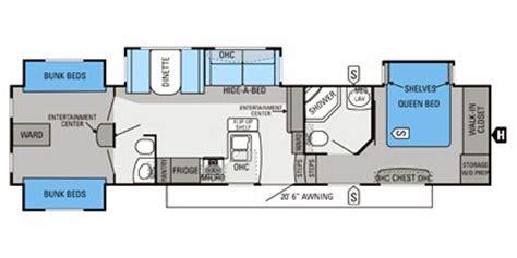 2013 Jayco Fifth Wheel Floor Plans 2013 jayco eagle premier 365bhs floorplan prices values