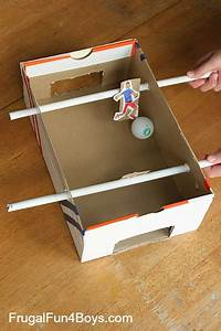 Make a Shoebox Foosball Game