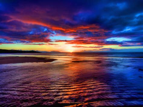 Sunset Beach Scotland Beautiful Wallpaper - 1600x1200 pixels