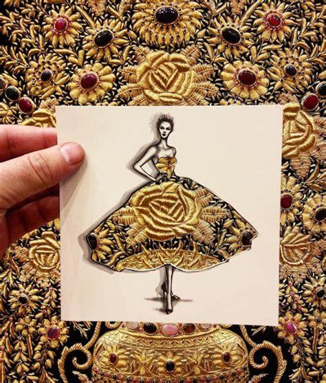 illustrator creates  fashion cut outs  turn
