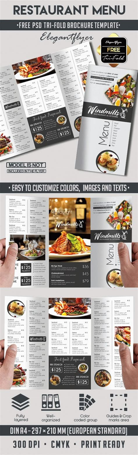 Template Brochure For Restaurant By Elegantflyer Restaurant Menu Free Template By Elegantflyer