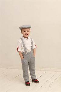 Boys Linen Pants And Suspenders Wedding Party Set Family Photo Prop Outfits Ideas Boys Linen ...