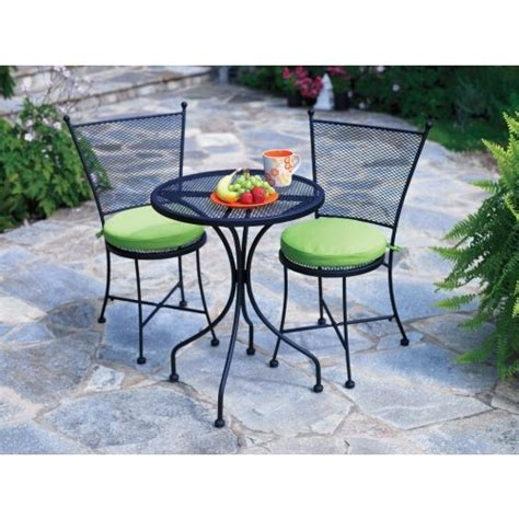 living accents 3 somerset bistro set wrought iron