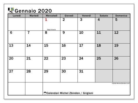 calendario gennaio  grigioni calendario stampabile