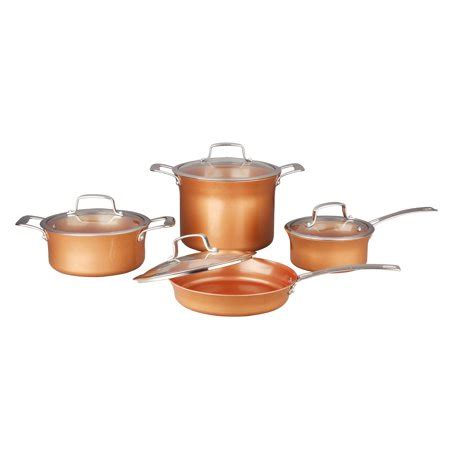 concord  piece ceramic coated copper cookware  bestseller induction compatible