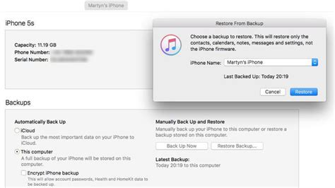 how to restore an iphone or from an icloud or itunes