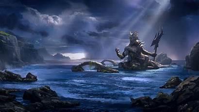 God Poseidon Sea War Greek Games Mythologie