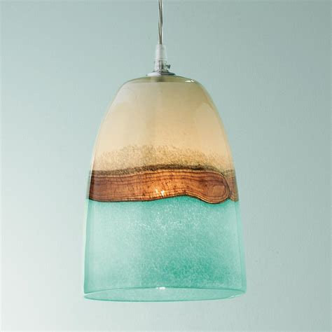 strata glass pendant light earth sea and clouds seem