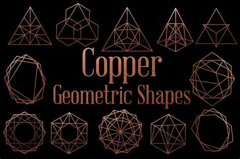 Copper Vintage Style Geometric Shapes By Dream In