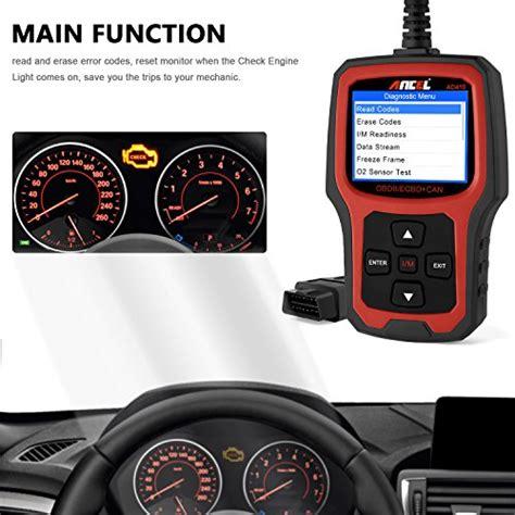 free check engine light scan ancel ad410 obd ii vehicle check engine light scan tool