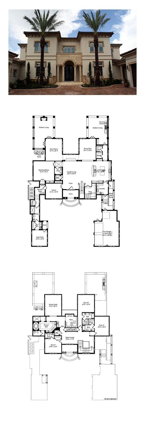 images  italian house plans  pinterest villas house plans  exercise rooms
