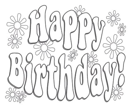 Free Coloring Cards by Happy Birthday Coloring Pages For Only Coloring Pages