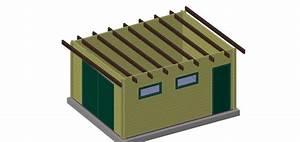 Chalet Bois Toit Plat : garage en bois sans permis de construire ~ Melissatoandfro.com Idées de Décoration