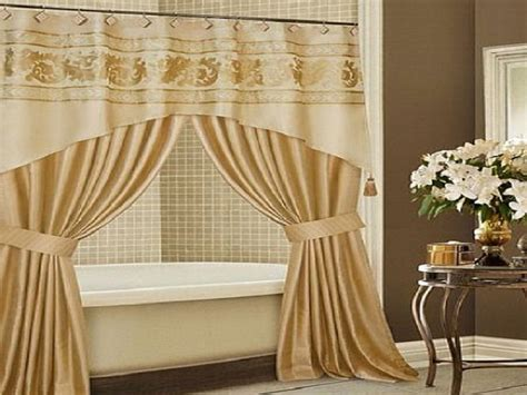 Luxury Design Bathroom Shower Curtain Ideas, Hookless