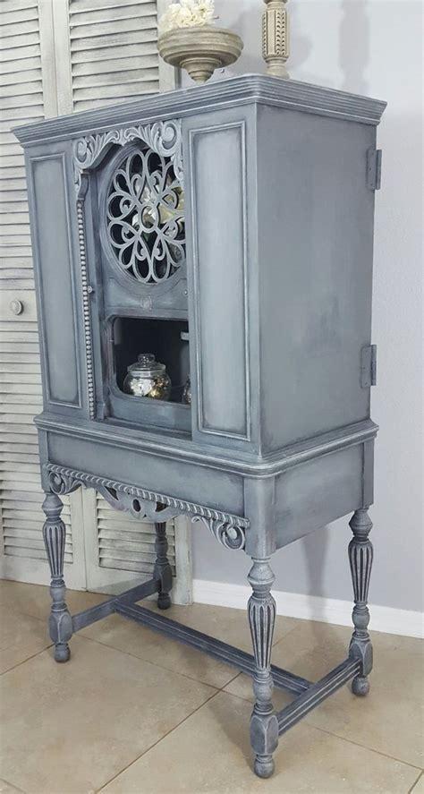 sold  purposed antique radio cabinet display cabinet