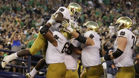 notre dame releases  full  football schedule