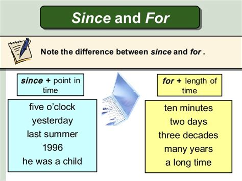 Presentation 6 Present Perfect Since & For