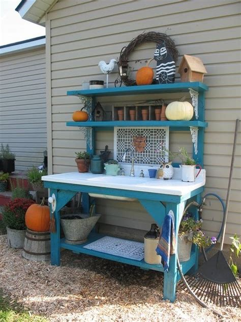 diy potting table with sink how to build a potting bench