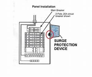 electrical panel surge protector electrical free engine With surge protector wiring diagram whole house surge protector wiring
