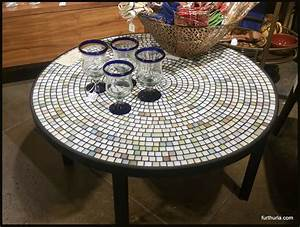 mosaic coffee tables plasma stands side tables consoles With round mosaic coffee table