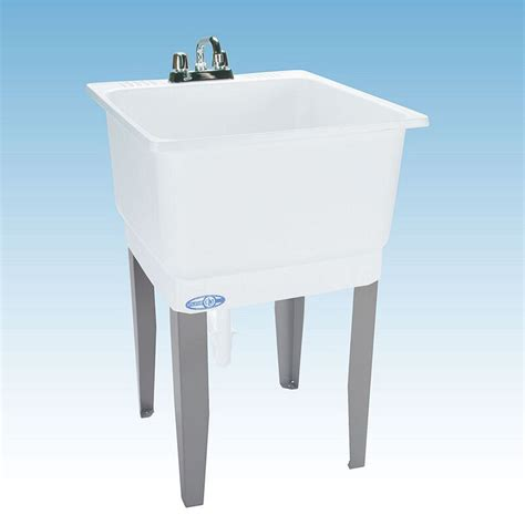 Laundry Sink by Utility Sink Freestanding White Polypropylene Laundry Room