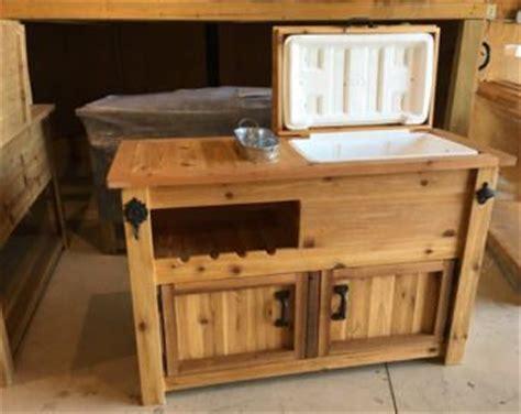 rustic wooden cooler table bar cart wine bar  mini