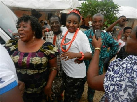 Photos From Ini Edo's Mother-in-law Burial