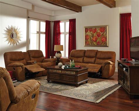 Hancox Light Brown Reclining Living Room Set From Coaster