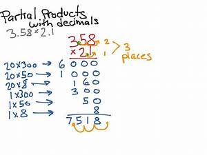 Partial Product Multiplication With Decimals
