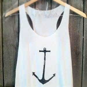Nautical Anchor Tank Top