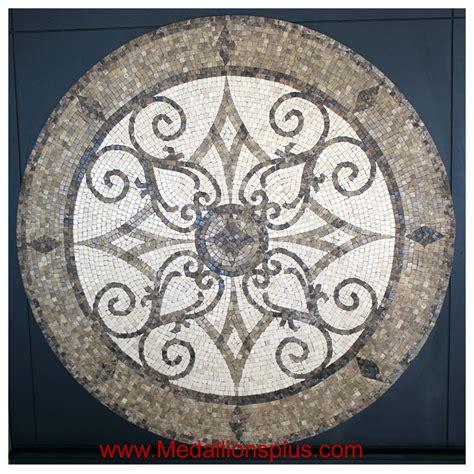 Round Mosaics  Design 13  Medallionspluscom  Floor
