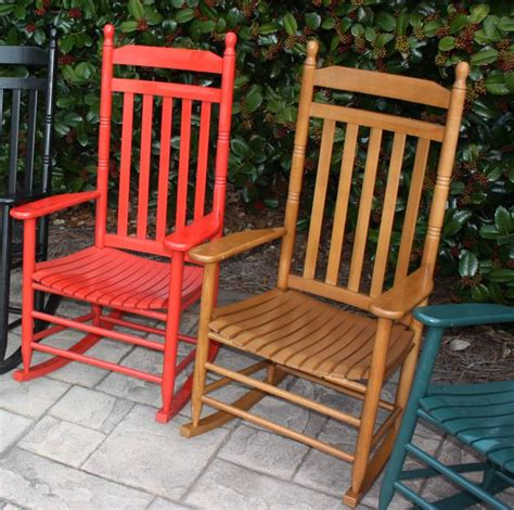 pair of country style slat back rocking chairs 410rta