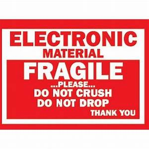 3quot x 4quot fragile electronic material labels 500 per roll With electronic shipping label