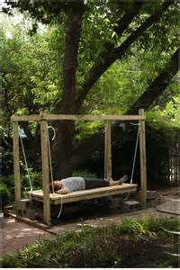 Patio Swings With Canopy by Outdoor Swinging Bed The Final Pics Before And After Diy