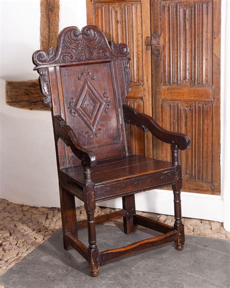 Oak Armchair by 17th Century Joined Oak Armchair