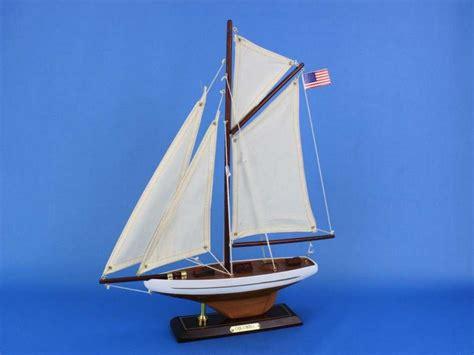 Catamaran Boat Ornament by Buy Wooden Columbia Model Sailboat Decoration 16 Inch