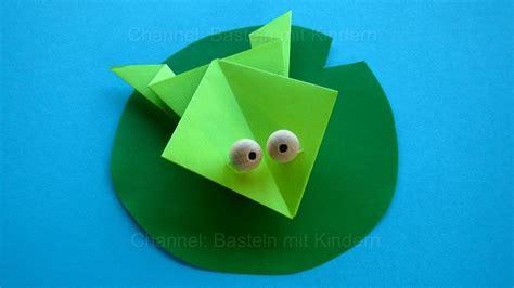 Origami Frosch Falten Mit Papier