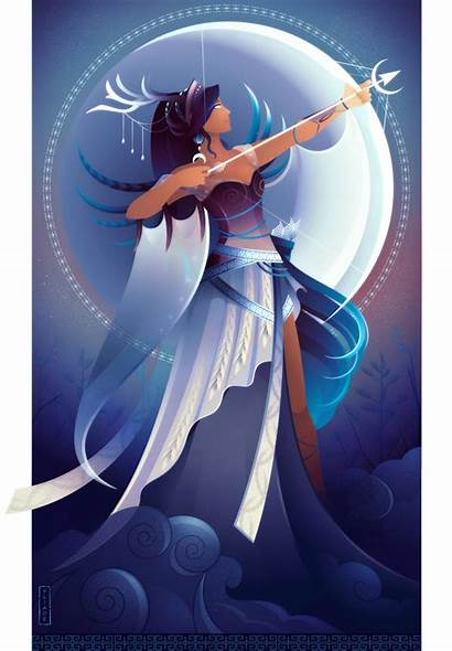 Artemis Greek Yliade Goddess Deviantart Mythology Gods