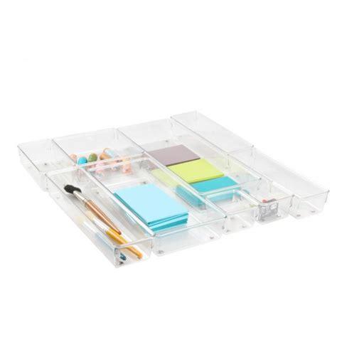 organisateur de tiroir bureau petit organiseur de tiroir en acrylique rangement bureau