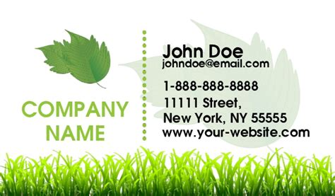 landscaping business cards lawn care busines cards