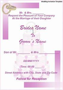 wedding invitation wording wedding invitation templates With wedding invitation word template 2007