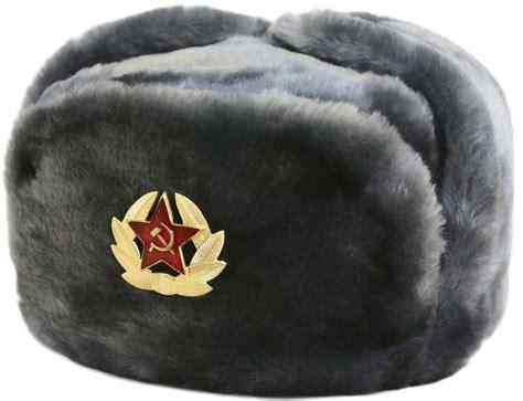 Russian Ushanka Winter Hat. Gray Faux Fur. Trapper Bomber
