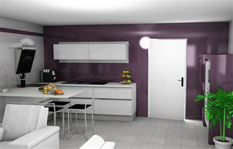 cuisine aubergine et grise cuisine blanc mur gris chaios com